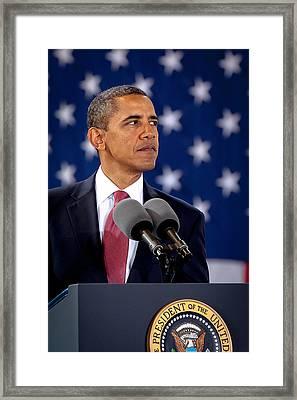 Obama Framed Print by Joshua Berman