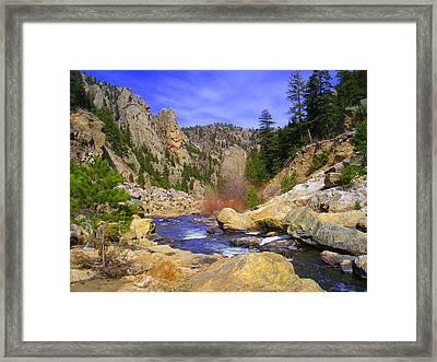 Poudre Canyon Framed Print by Bob Beardsley