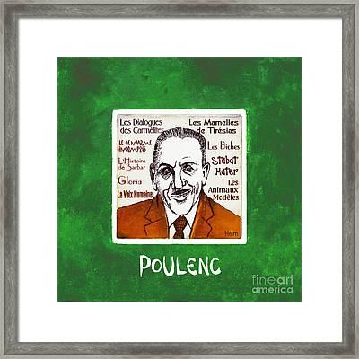 Poulenc Framed Print by Paul Helm