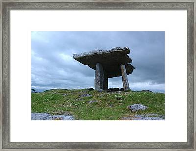 Framed Print featuring the photograph Poulnabrone Dolmen 2 by Ken Dietz