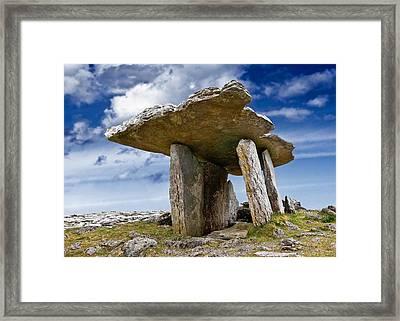 Poulnabrone Dolmen - Clare - Ireland Framed Print by Jane McIlroy