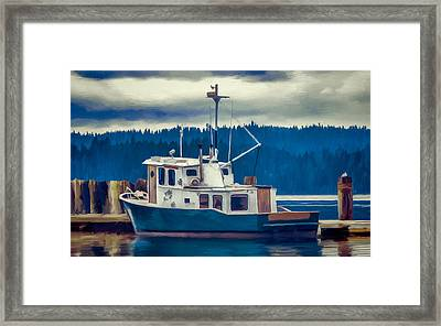 Poulsbo Waterfront 03 Framed Print by Wally Hampton