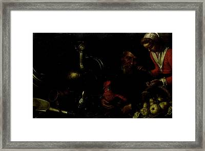 Poultry Merchant Framed Print by Litz Collection
