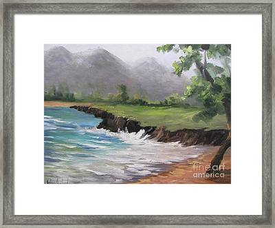 Pounders Beach Number Three Framed Print