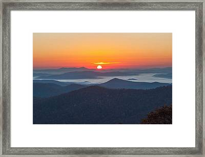 Pounding Mill Sunrise Framed Print by Donnie Smith