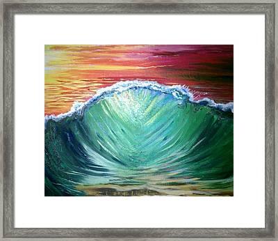 Pounding Shorebreak Framed Print by Joe Fussner