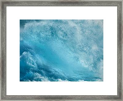 Pounding Waves Framed Print by Leland D Howard