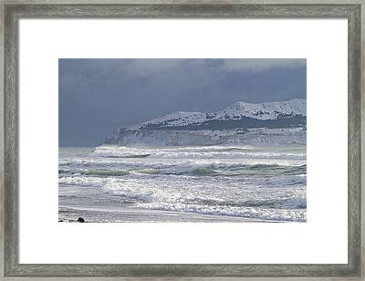Pounding Waves Framed Print by Tim Grams
