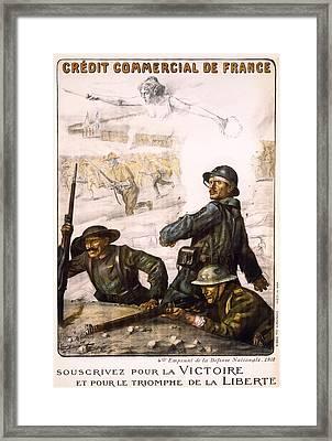 Pour La Victoire - W W 1 - 1918 Framed Print by Daniel Hagerman