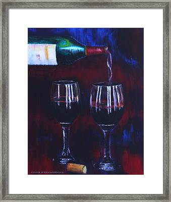 Pour Me Some Wine Framed Print