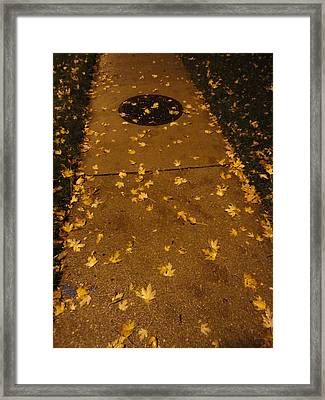 Poured Gold Framed Print by Guy Ricketts