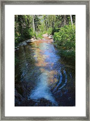 Pouring Into Morning Light Framed Print by Kathleen Scanlan