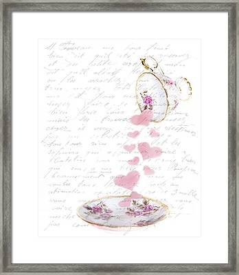Pouring My Heart Out Framed Print