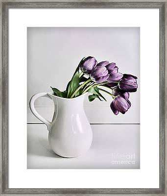 Pouring Purple Framed Print