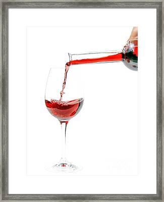 Pouring Red Wine Framed Print