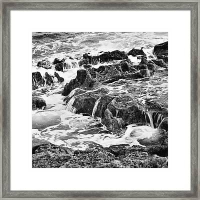 Pouring Rocks Framed Print