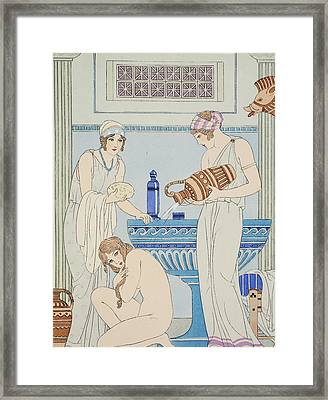 Pouring Water Over The Patient Framed Print by Joseph Kuhn-Regnier