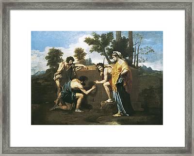 Poussin, Nicolas 1594-1665. Arcadian Framed Print