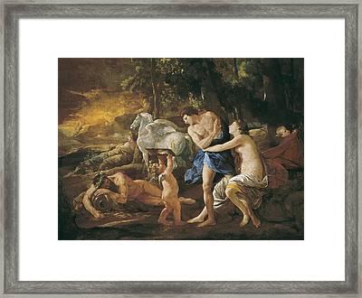 Poussin, Nicolas 1594-1665. Cephalus Framed Print