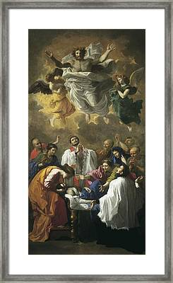 Poussin, Nicolas 1594-1665. Saint Framed Print by Everett