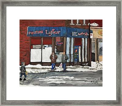 Poutine Lafleur On Wellington Framed Print by Reb Frost