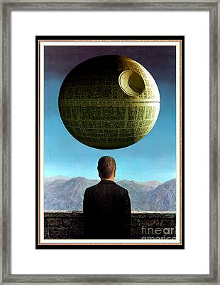Framed Print featuring the digital art POV by Sasha Keen