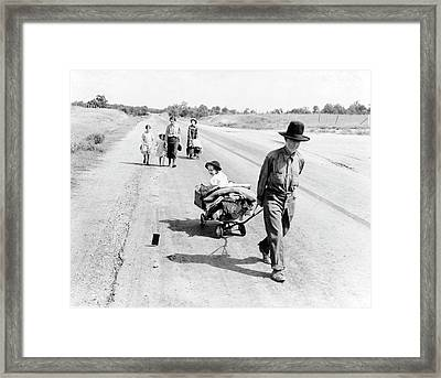 Poverty In Great Depression Framed Print by Library Of Congress