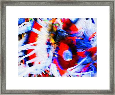Pow Wow Abstract Framed Print