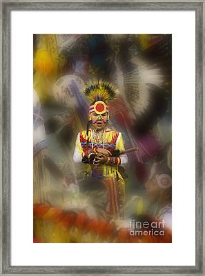 Pow Wow Among The Elders Framed Print by Bob Christopher