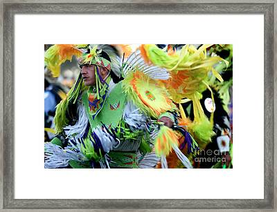 Pow Wow Dancer Framed Print