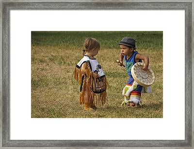 Pow Wow Framed Print by Inge Riis McDonald
