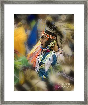 Pow Wow Traditional Ways Of  Learning Framed Print by Bob Christopher
