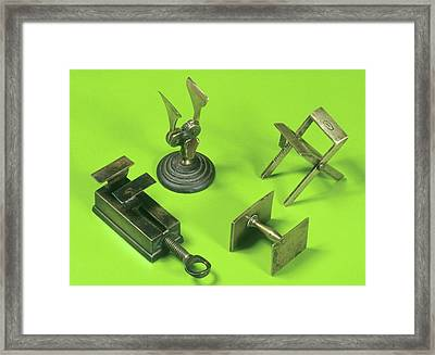 Powder Folders Framed Print by Science Photo Library