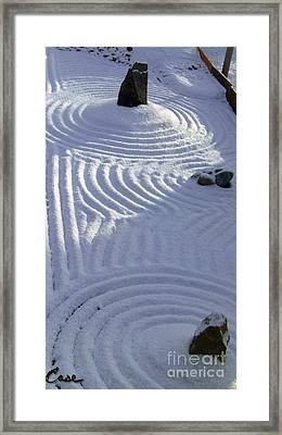 Powder In Zen Two Framed Print by Feile Case