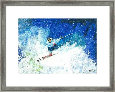 Powder Play Framed Print by Carol Duarte