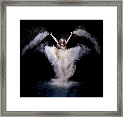 Powder Rush Framed Print by Pauline Pentony Ba