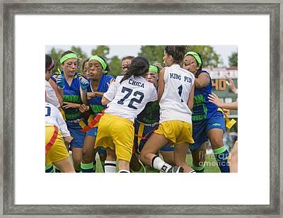Powderpuff Football Framed Print