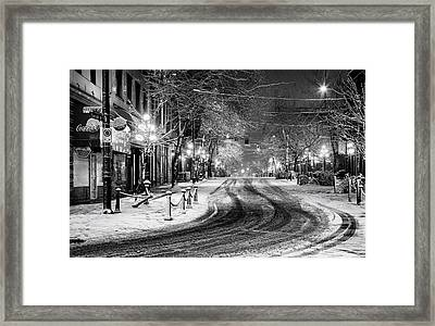 Powell And Carrall Street In Gastown Framed Print