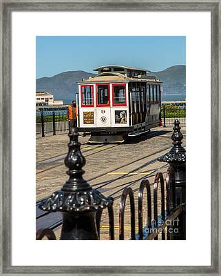 Powell And Market Trolley Framed Print
