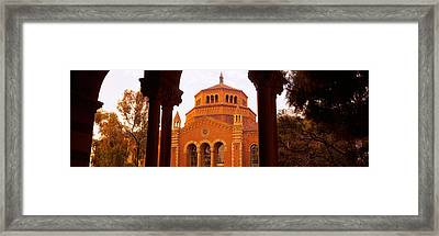 Powell Library At An University Campus Framed Print by Panoramic Images