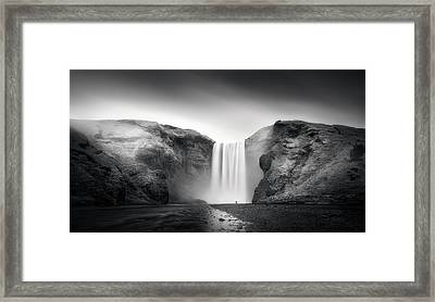 Power And Humility Framed Print