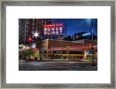 Power And Light Framed Print