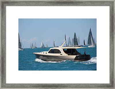 Power And Sail Framed Print