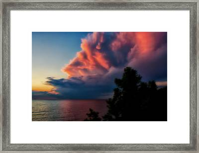 Power Cloud Framed Print