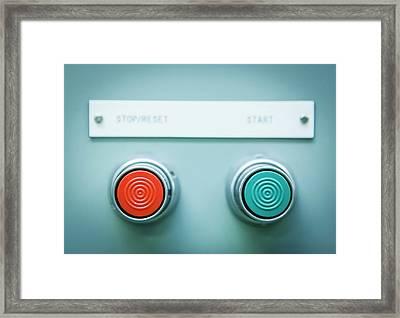 Power Control Switch Framed Print