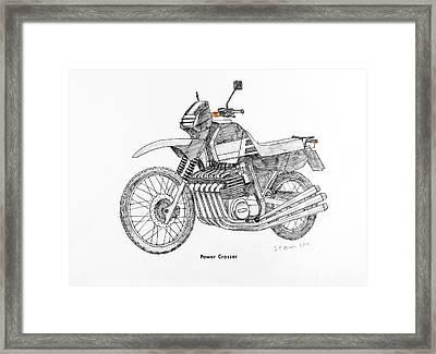Power Crosser Framed Print by Stephen Brooks