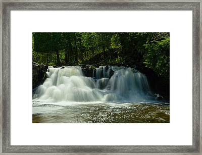 Power Dam Falls Framed Print