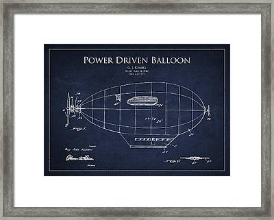 Power Driven Balloon Patent Framed Print by Aged Pixel