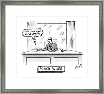 Power Failure Framed Print by Tom Cheney