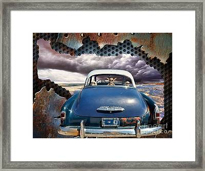 Power Glide Riding The Storm Framed Print by Liane Wright